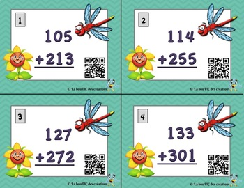 L'addition à 3 chiffres avec code QR