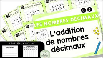 L'addition de nombres décimaux