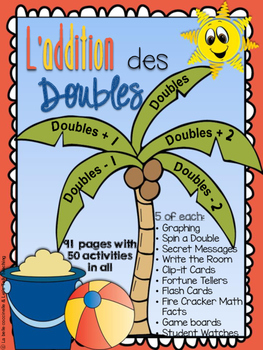 L'addition des doubles - Doubles Basic Fact Fluency Packag