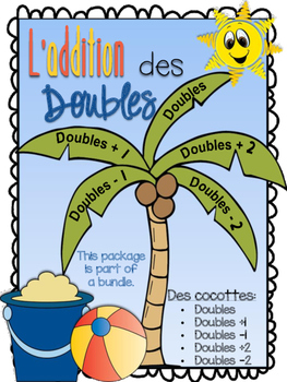 L'addition des doubles - 5 cocottes - doubles, doubles +1, -1, +2, -2