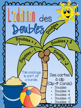 L'addition des doubles - des cartes à clip des doubles, doubles +1, -1, +2, -2