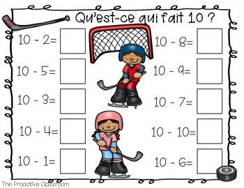 L'addition et la soustraction jusqu'à 10 / French Number Tiles