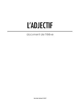 L'adjectif qualificatif - Document de travail