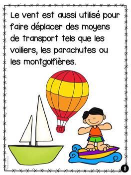 L'air - Livret de lecture informatif - French Reader on Air