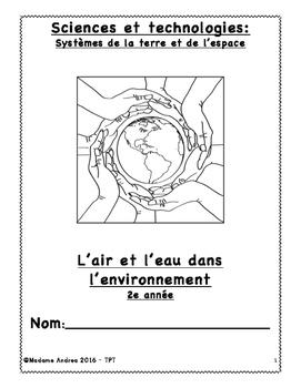 L'air et l'eau dans l'environnement  2e ANNÉE