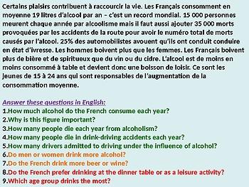 L'alcool / Alcohol