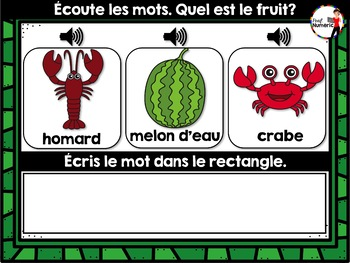 L'alimentation BOOM Cards : Les Fruits (french food groups)