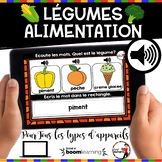L'alimentation BOOM Cards : Les Légumes (french food groups)