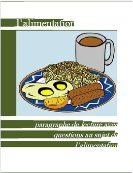 L'alimentation FRENCH Reading on Food