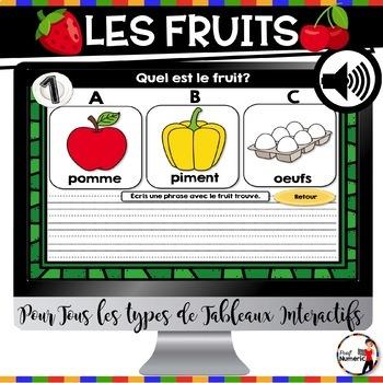 L'alimentation : Fruits (légumes, substituts, poissons, produits laitiers, etc.)