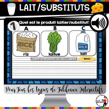 L'alimentation : Lait et Substituts (mois de la nutrition)