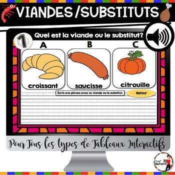 L'alimentation : Viandes et Substituts (mois de la nutrition)