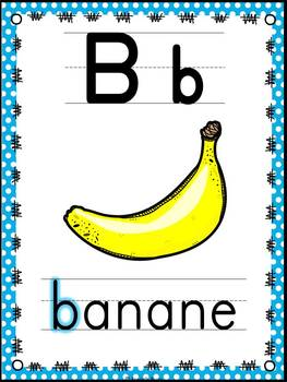 L'alphabet - Affiches - French Alphabet Posters - Thème: à pois