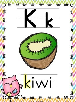 L'alphabet - Affiches - French Alphabet Posters - Thème: hiboux