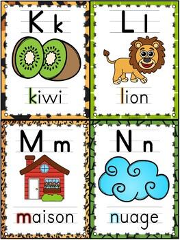 L'alphabet - Affiches - French Alphabet Posters - Thème: jungle-safari