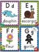 L'alphabet - Affiches - French Alphabet Posters - Thème: monstres