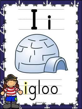 L'alphabet - Affiches - French Alphabet Posters - Thème: pirates