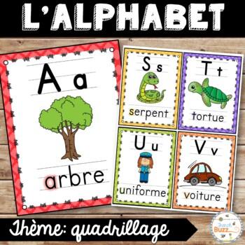 L'alphabet - Affiches - French Alphabet Posters - Thème: quadrillage