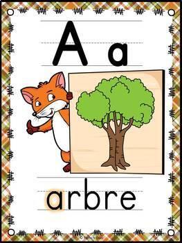 L'alphabet - Affiches - French Alphabet Posters - Thème: renards