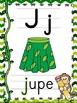 L'alphabet - Affiches - French Alphabet Posters - Thème: singes