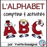 Comptine et activités pour l'alphabet  French Alphabet Poem and activities