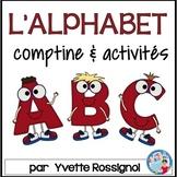 Comptine et activités pour l'alphabet  |  French Alphabet Poem and Activities