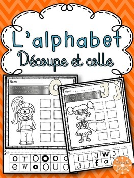 L'alphabet - Découpe et colle - French alphabet