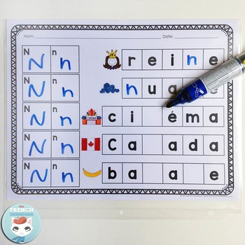 L'alphabet - STAMP or WRITE the letters - French Alphabet