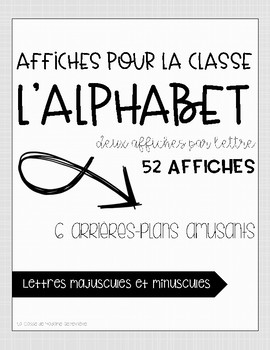 L'alphabet [affiches] {FRENCH Alphabet Posters}