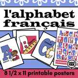 L'alphabet francais  French Alphabet Posters