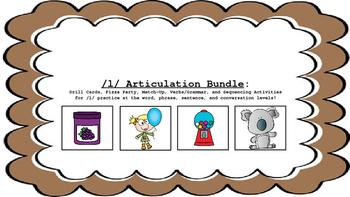 L and L Blend Articulation & Language Activity Bundle; Speech-Language Therapy