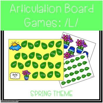 Articulation Board Games Spring Edition: /L/