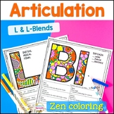 L and L Blends Articulation Activities Coloring Pages- Dis