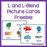 L and L Blends Picture Cards Freebie