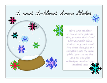 L and L-blend snow globes