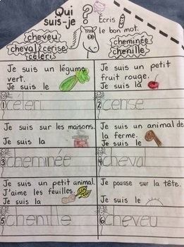"L'appartement de René, le petit cheval- FRENCH- Phonics: le son ""e""- Grade 1"