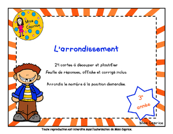 L'arrondissement - 3e année