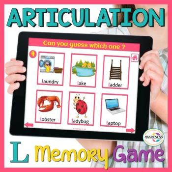 L-articulation Visual Memory Game (No Print)