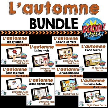 L'automne: French Fall (Autumn) Themed Digital Task Cards BUNDLE - BOOM CARDS