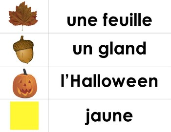 L'automne - French Fall Vocabulary for Word Wall