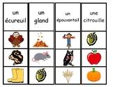 L'automne - Jeu de vocabulaire (épingle à linge)