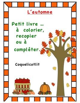 L'automne - Petit livre