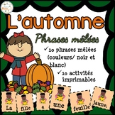 L'automne - Phrases mêlées - French Fall