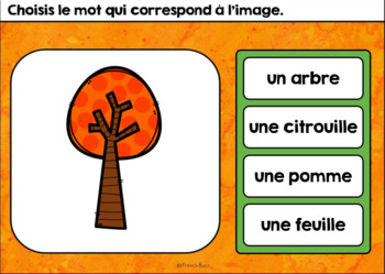L'automne - Vocabulaire #1 - French Fall - BOOM cards