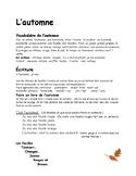 L'automne par Paola 23 pages d'idées K-1-2