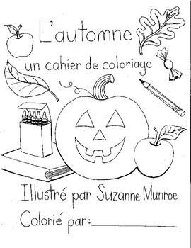 L Automne Un Cahier De Coloriage By Apples And Pommes By Suzanne Munroe