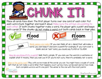 L-blend Chunk It phonics game