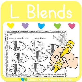 L blends Fishing Worksheets