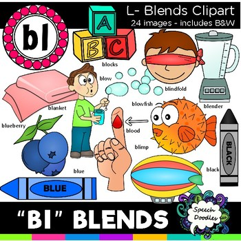 L blends clipart - Bl words - 24 images! Personal and Commercial use