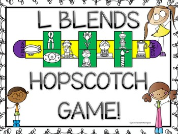 Phonics: L Blends (Hopscotch Game)